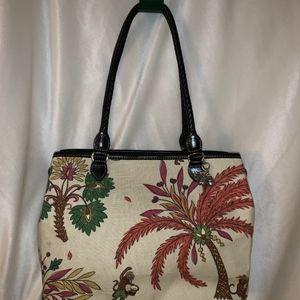 Brighton Tapestry Palm Tree Purse!